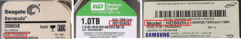Trova il PCB tramite il modello HDD